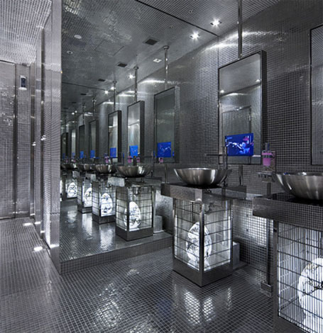 Stainless steel projects interior design for New washroom designs