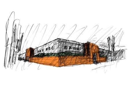 Poltrona Frau museum sketch