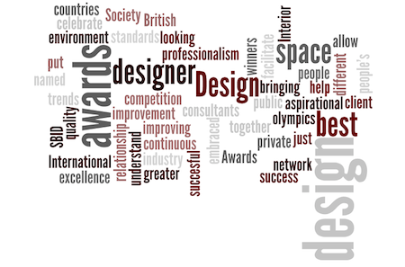 SBID 2013 awards wordle